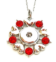 DANISH LOVE SNAP JEWEL NECKLACE - RED