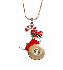 CHRISTMAS STOCKING SNAP JEWEL NECKLACE
