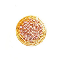PINK ON ROMAN GOLD SNAP JEWEL