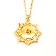 GOLD SUNBURST SNAP JEWEL NECKLACE