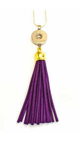 SNAP JEWEL TASSEL NECKLACE -PURPLE