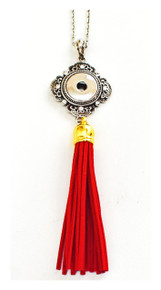 SNAP JEWEL MADRID TASSEL NECKLACE - RED