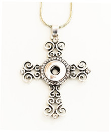 MINI CRYSTAL FILIGREE CROSS NECKLACE