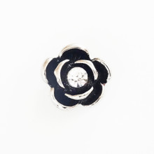 MINI  BLACK ROSE SNAP JEWEL