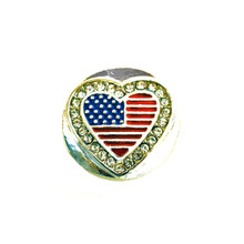 I LOVE AMERICA FLAG SNAP JEWEL