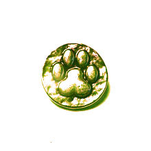 BURNISHED GOLD DOG PAW PRINT SNAP JEWEL
