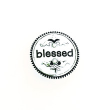 ANTIQUE SILVER BLESSED SNAP JEWEL