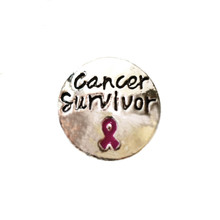 SILVER CANCER SURVIVOR SNAP JEWEL