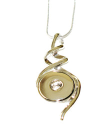 SPIRAL SNAP JEWEL NECKLACE