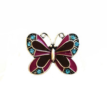 LARGE PURPLE ENAMEL BUTTERFLY SNAP JEWEL