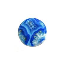 BLUE AGATE ENAMEL SNAP JEWEL