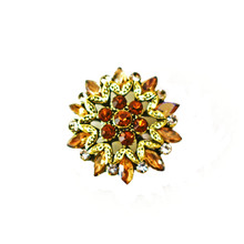 AMBER, GOLD AND DIAMOND STAR SNAP JEWEL