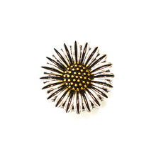 SILVER AND GOLD SUNFLOWER SNAP JEWEL