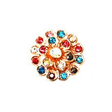 GOLD MULTICOLOR MUM SNAP JEWEL