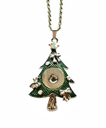 OLD FASHIONED GREEN CHRISTMAS TREE NECKLACE