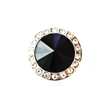 BLACK SPINNER SNAP JEWEL