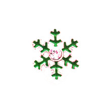 MINI 208 GREEN SNOWFLAKE SNAP JEWEL