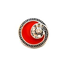 MINI 218 RED DIAMOND SWIRL SNAP JEWEL