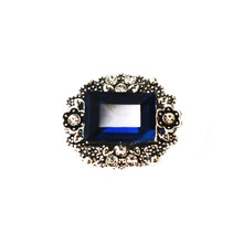 ANTIQUE COBALT REPOUSSE SNAP JEWEL