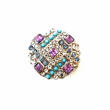 LAVENDER AND BLUE DECO SNAP JEWEL
