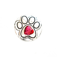 RED HEART DOG PAW SNAP JEWEL