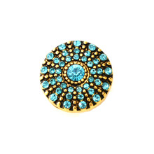 AZURE AND GOLD PINWHEEL SNAP JEWEL