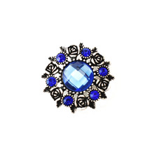 COBALT FACETED WREATH SNAP JEWEL