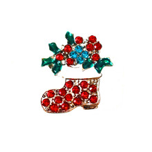 SANTA'S JEWELED BOOT SNAP JEWEL