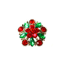 DAZZLING RED AND GREEN HOLIDAY SNAP JEWEL