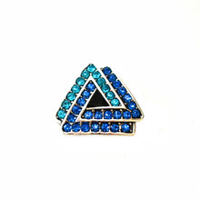 TWO TONED TRIANGLES SNAP JEWEL
