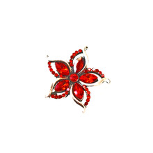 RED POINSETTIA SNAP JEWEL