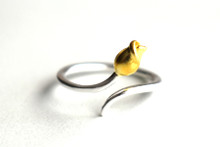 STERLING SILVER ROSEBUD RING