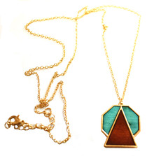 GEOWOOD STOP AND YIELD NECKLACE