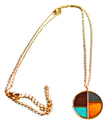GEOWOOD FOUR CORNERS ROUND NECKLACE