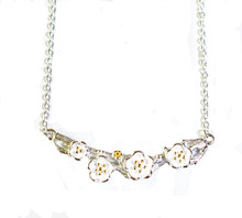 SILVER FLOWERING BRANCH NECKLACE