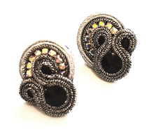 SOUTACHE - SALLY - SILVER POST EARRINGS