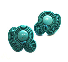 SOUTACHE - SARA - TURQUOISE POST EARRINGS