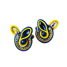 SOUTACHE - SOPHIA - ROYAL POST EARRINGS