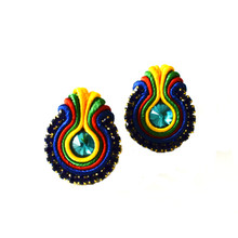 SOUTACHE - SURI - MULTICOLOR POST EARRINGS