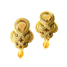 SOUTACHE - SYLVIA - CHAMPAGNE POST EARRINGS