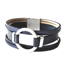 MAGNETIC LEATHER - MIDNIGHT MELODY BRACELET