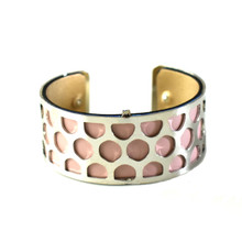 INTERCHANGEABLE CUFF - SILVER HONEYCOMB