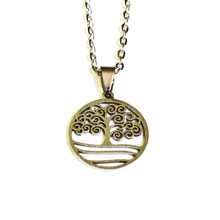 STAINLESS STEEL STORMY TREE OF LIFE NECKLACE SM