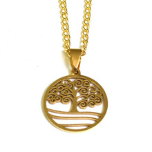 STORMY TREE OF LIFE GOLD NECKLACE
