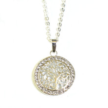 SILVER CRYSTAL TREE OF LIFE NECKLACE