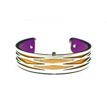 HALF INCH INTERCHANGEABLE CUFF - GOLD RHOMBUS
