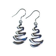 SILVER ZIGZAG FISHHOOK EARRINGS