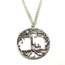 TREE OF LIFE MOTHER WITH 2 CHILDREN NECKLACE