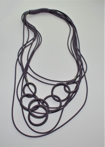 OLYMPIC CIRCLES PURPLE NECKLACE