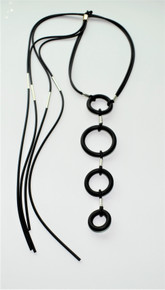 CIRCLES AND TASSELS NECKLACE